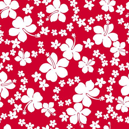 Hibiscus flower seamless pattern