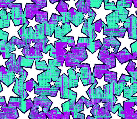 Seamless star pattern.