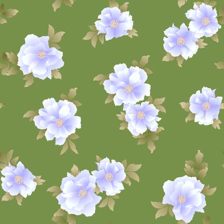 Japanese peony seamless pattern