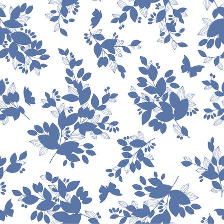 Hand-drawn plants flat style vector illustration. Illustration