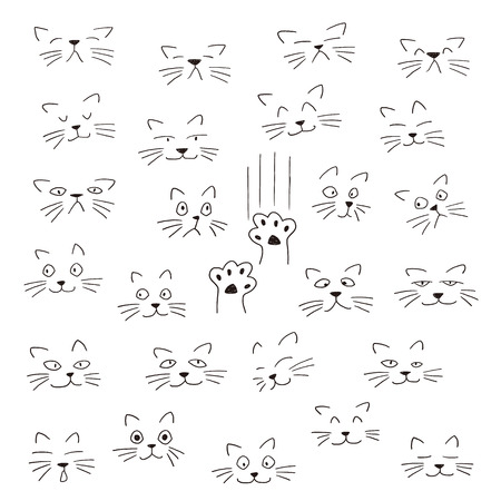 Face illustration of the animal, I made the expression of the animal an illustration simply,
