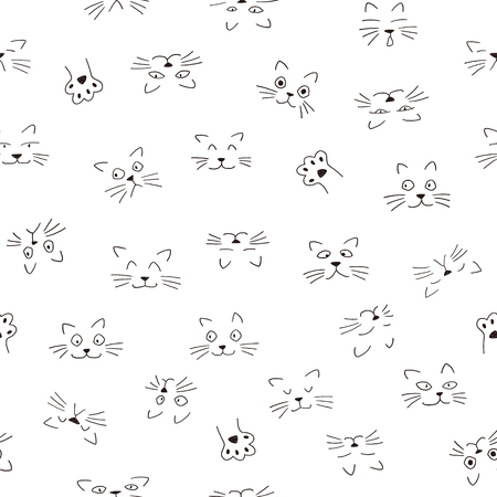 Face pattern of the animal, I made the expression of the animal an illustration simply, These designs continue seamlessly