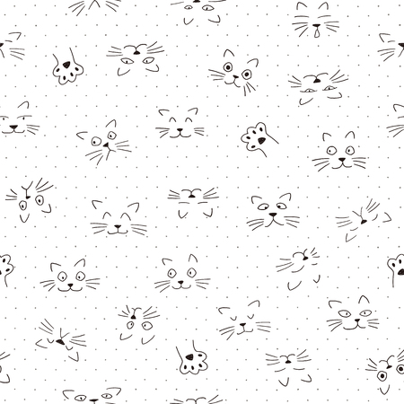 Face pattern of the animal, I made the expression of the animal an illustration simply, These designs continue seamlessly Stock Vector - 100376084
