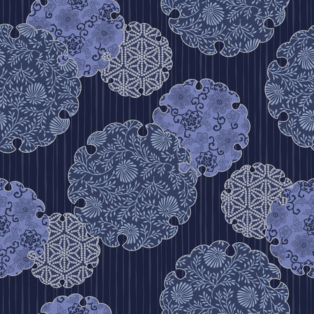 Japanese style tradition pattern, This painting continues repeatedly, It is a vector work,