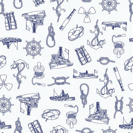 Ship pattern illustration,  イラスト・ベクター素材