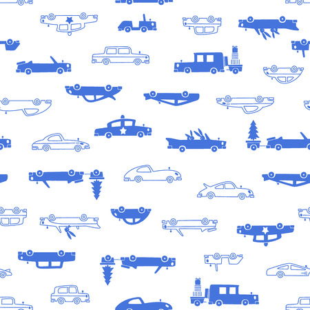 The pattern of a pretty car, It was simple and drew a car cutely, It repeats itself seamlessly