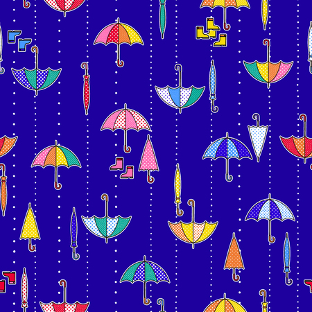 Pattern illustration of the umbrella, I designed an umbrella cutely, I continue seamlessly,