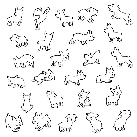 Dog illustration material. I made the illustration of the puppy which I loved.