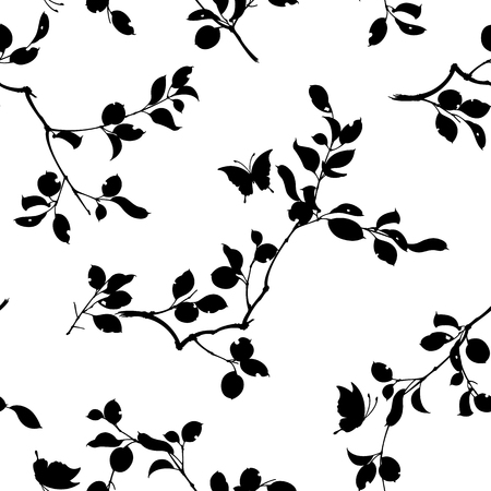 Japanese style leaf pattern. Design of a Japanese style leaf. This painting continues repeatedly. 向量圖像