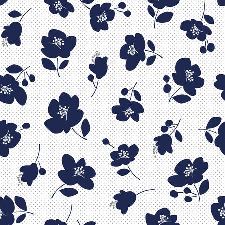 Flower illustration pattern, seamlessly Иллюстрация
