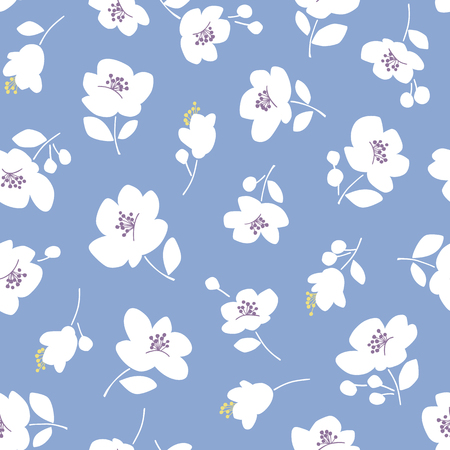 Flower illustration pattern, seamlessly Ilustrace