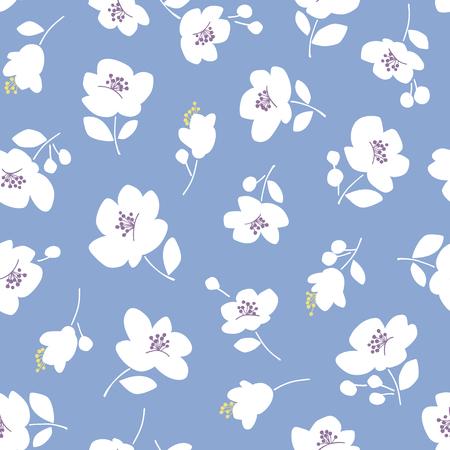 Flower illustration pattern, seamlessly Illustration