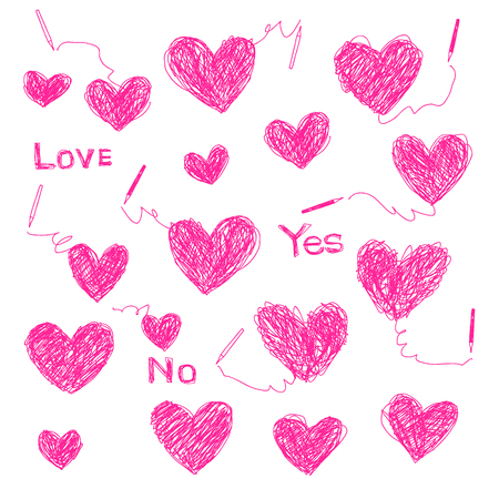 Heart shaped illustration Illustration