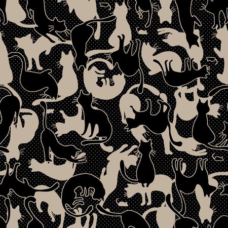 Pretty cat pattern,seamlessly 일러스트
