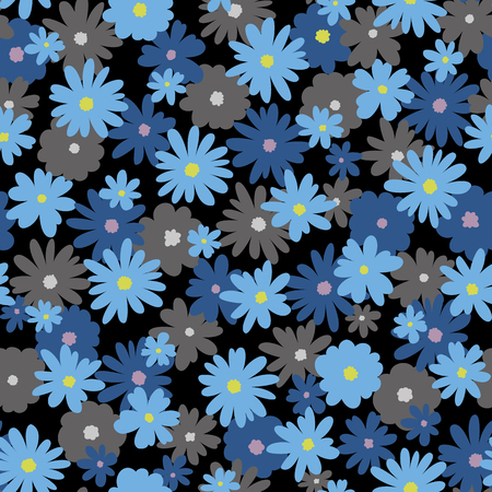 Flower illustration pattern, I designed a flower, I continue seamlessly, Ilustrace