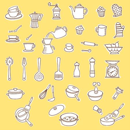 Kitchen utensil illustration, I made a kitchen utensil an illustration simply,