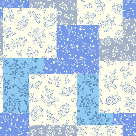 Lee patchwork pattern, It was simple and expressed a leaf, These designs continue seamlessly,