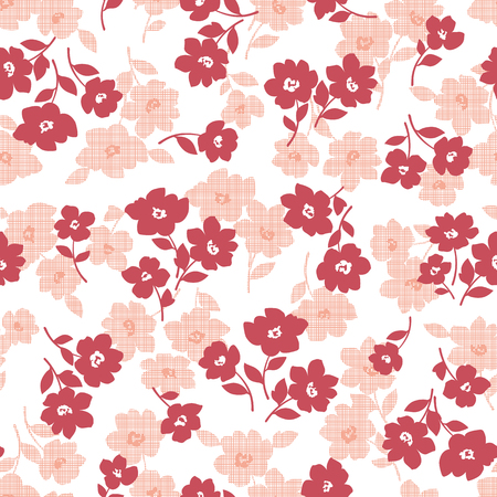 Flower illustration pattern, I designed a flower, I continue seamlessly, Illustration