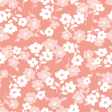 Flower illustration pattern, I designed a flower, I continue seamlessly, Vettoriali
