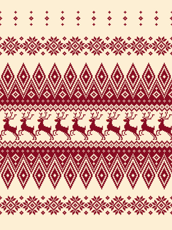 Nordic pattern illustration. I designed a traditional Nordic pattern, It is a vector work,