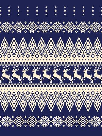 Illustration de modèle nordique. J'ai conçu un motif nordique traditionnel, c'est un travail vectoriel, Vecteurs