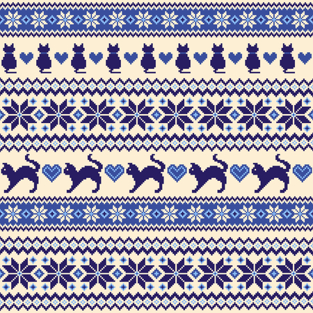 Nordic pattern illustration. 矢量图像