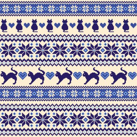 Nordic pattern illustration. Illustration