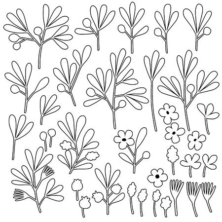 Abstract plants illustration, Illustration
