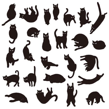 Pretty cat illustration,  イラスト・ベクター素材