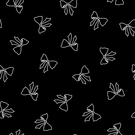 Pattern of the ribbon, I made ribbon a seamless pattern,  イラスト・ベクター素材