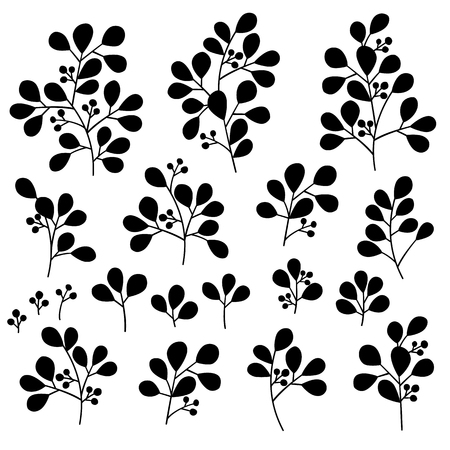 Leaves illustration object. It was simple and expressed a leaves.