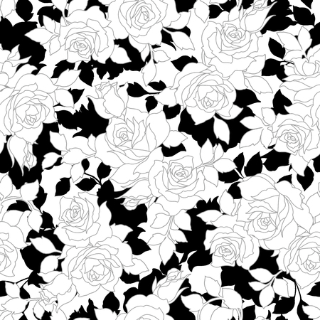 Rose illustration pattern,