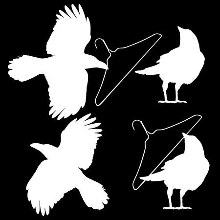 Illustration of the crow, 写真素材 - 108057330