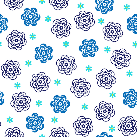 Abstract flower pattern. Ilustrace