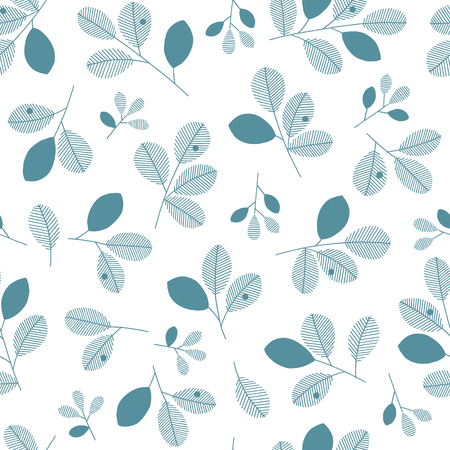 Illustration pattern of the leaf, These designs continue seamlessly