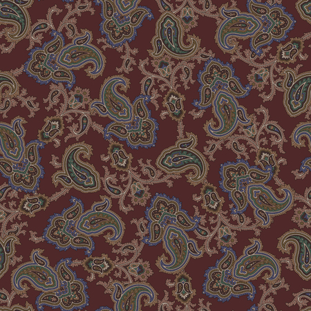 Paisley illustration pattern, This painting continues repeatedly 向量圖像