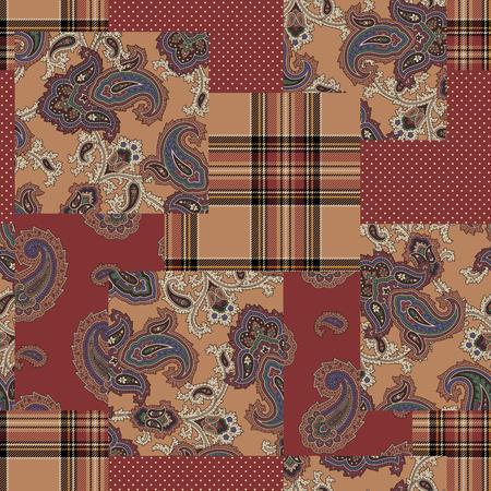 Paisley patchwork pattern,