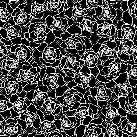 Abstract flower pattern. 일러스트