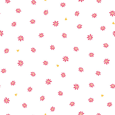 Flower illustration pattern,