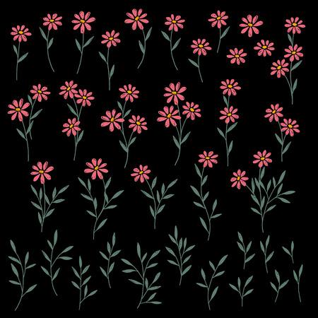 Objeto de ilustración de flor, Ilustración de vector