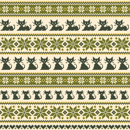 Nordic events pattern illustration of the cat,
