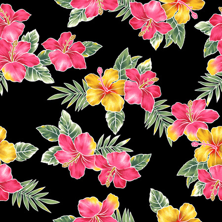 Hibiscus flower pattern I drew Hibiscus for a design