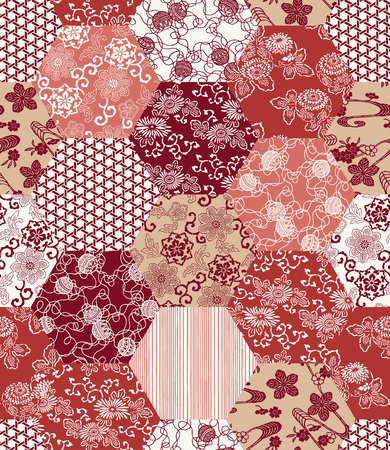 Japanese style tradition pattern 向量圖像