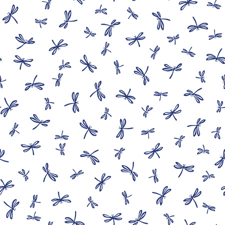 Japanese style dragonfly pattern,
