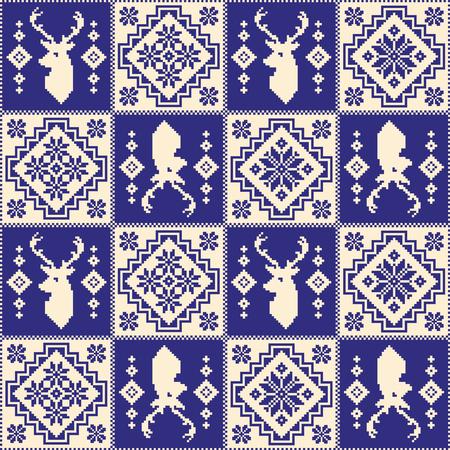 Nordic pattern illustration. 向量圖像