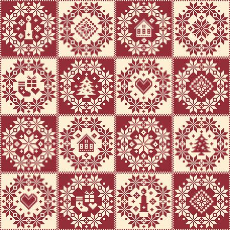 Nordic pattern illustration. Иллюстрация