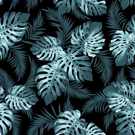 Tropical plant seamless pattern Illustration