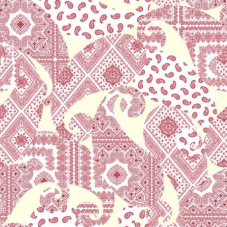 Ornament pattern illustration, Illustration