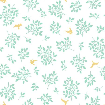Illustration pattern of the leaf