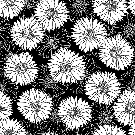 Illustration pattern of the flower